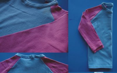 Camiseta Rosa y Azul