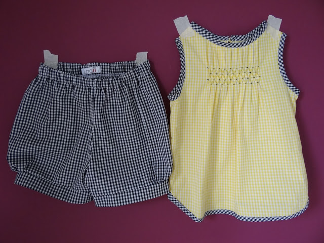 Top y shorts nido abeja