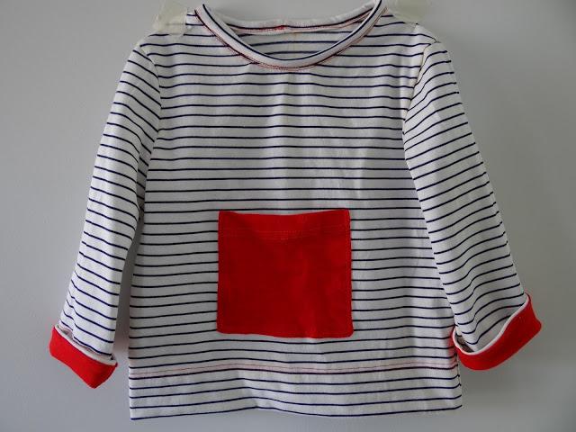 Camiseta rayas blanca y azul