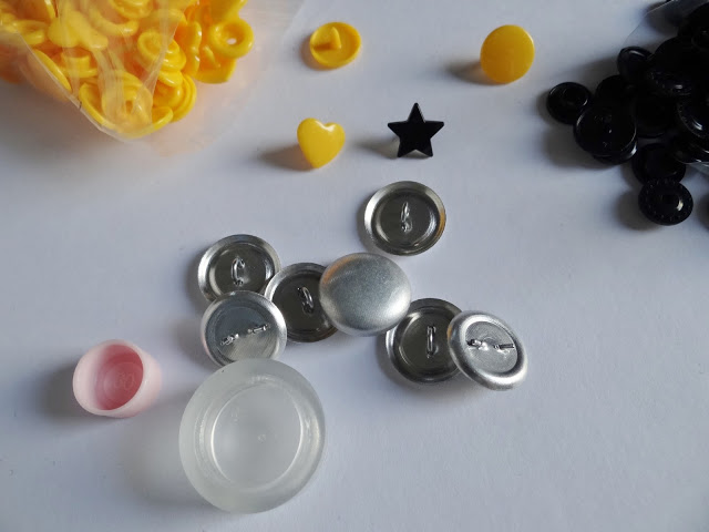 Snaps  y botones forrados