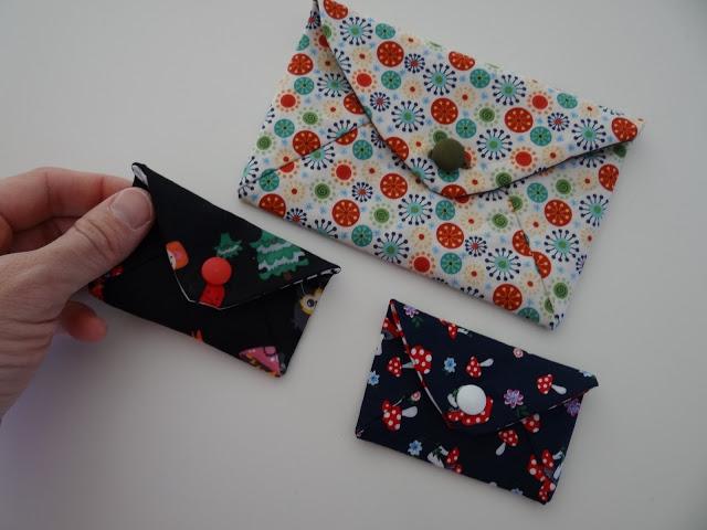 patrón de sobres de tela