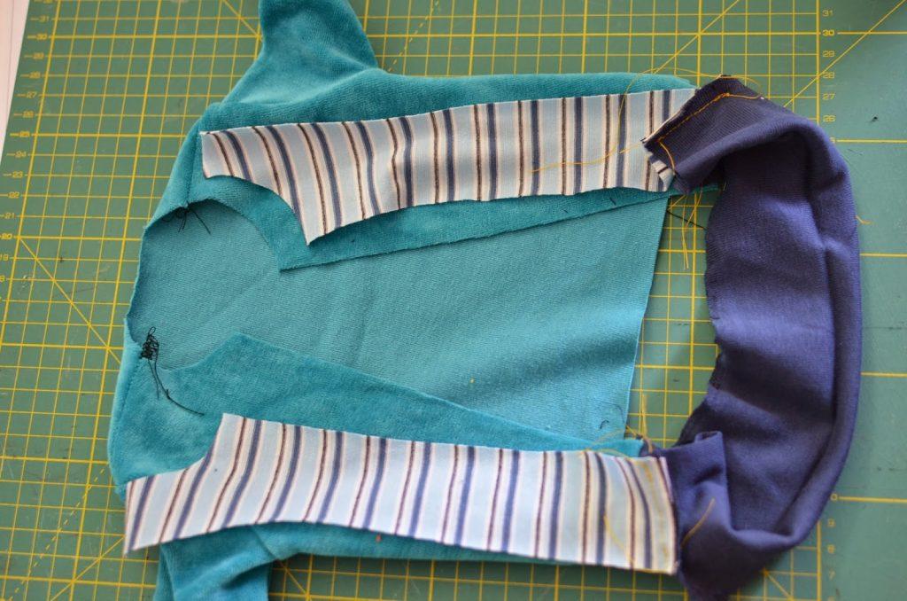 coser sudadera con cremallera y vistas