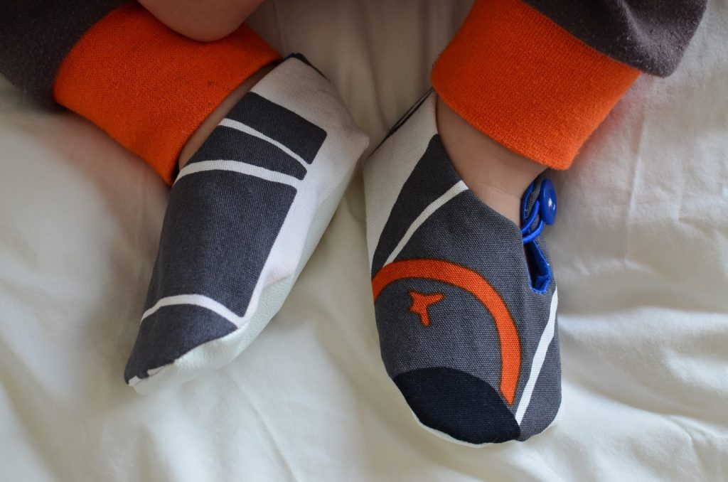 patrón zapato tela bebé cordón