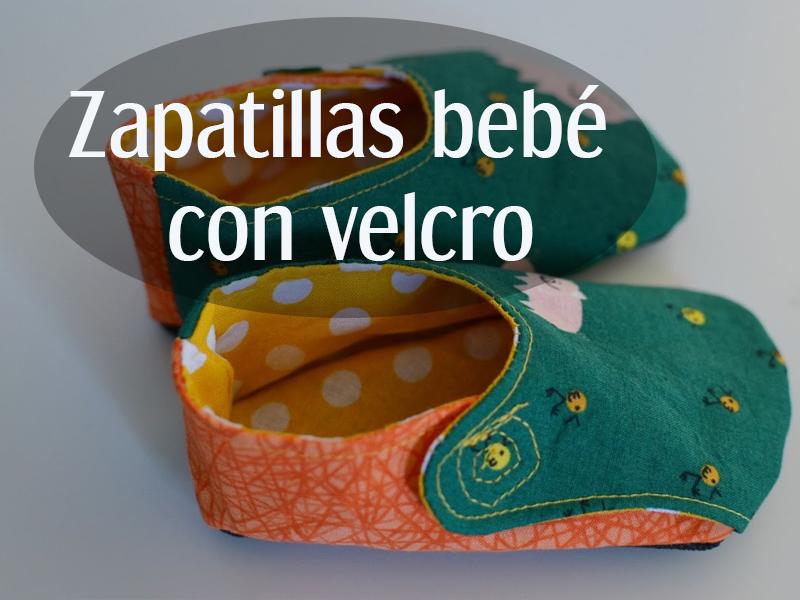 Patrón Zapato de tela  bebé con velcro