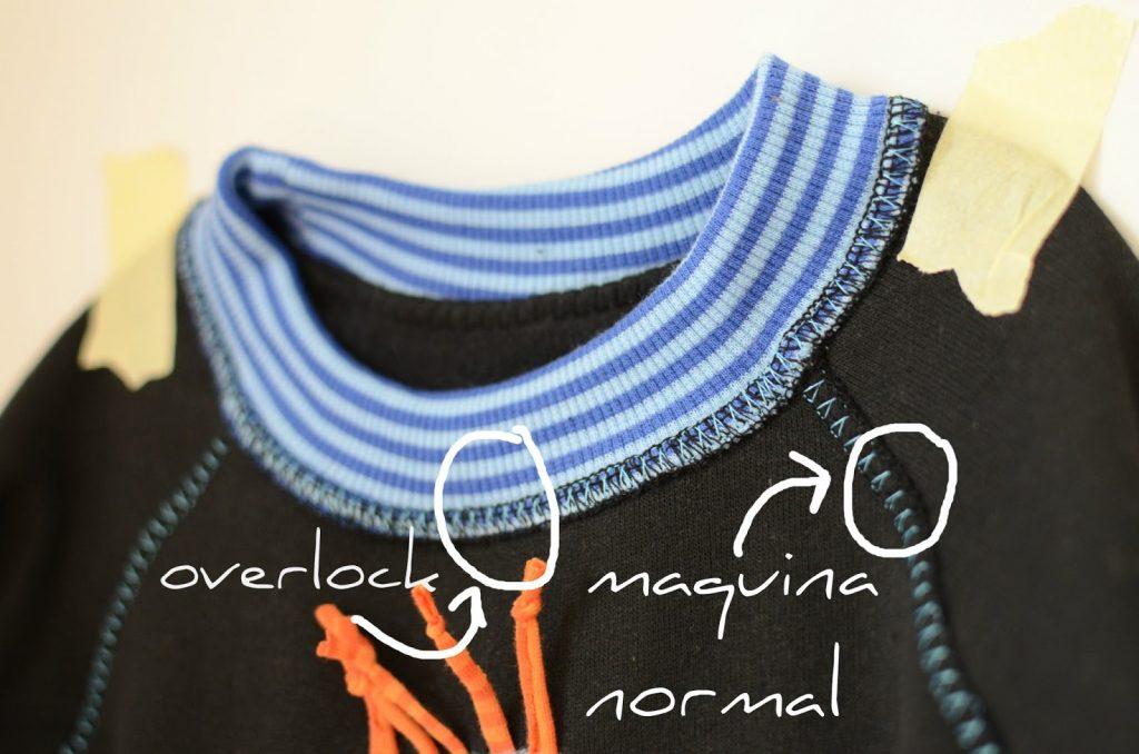 coser cuellos de camiseta