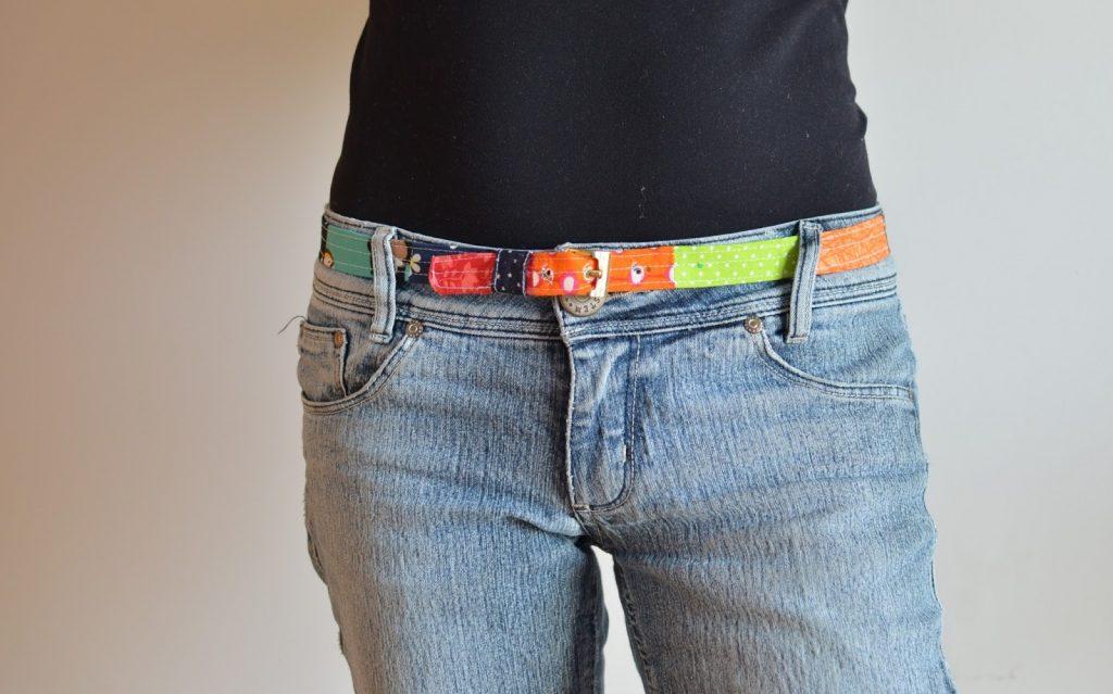 cinturón de retales de tela