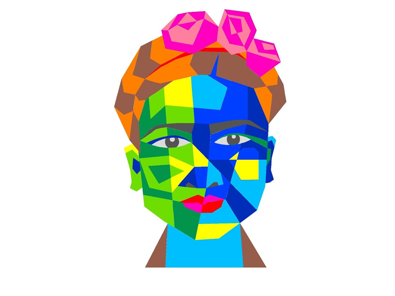 Frida – SILUETA GRATIS PARA APLIQUE