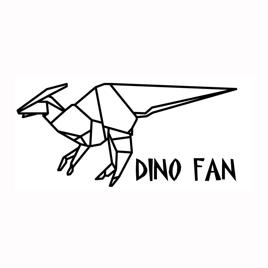 Dino Fan – Silueta gratis para aplique