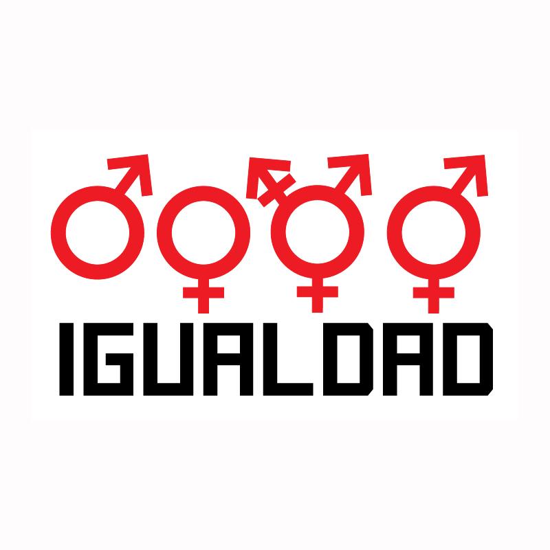 Igualdad – Silueta gratis para aplique