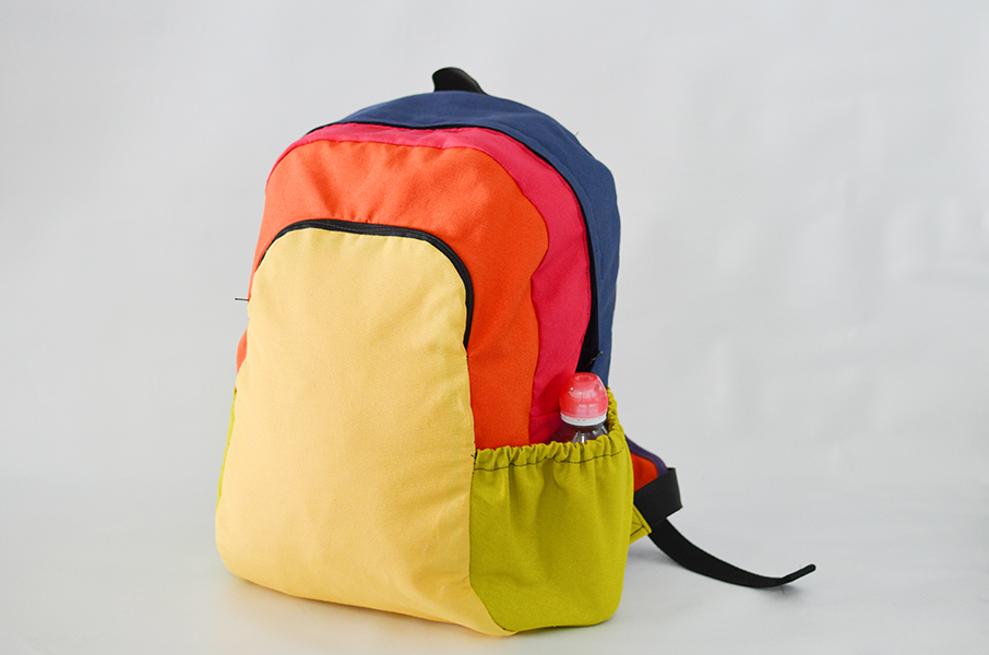 Backpack Jota con interior rematado con bies