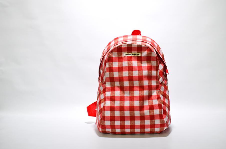 patrón gratis mochila mini jota
