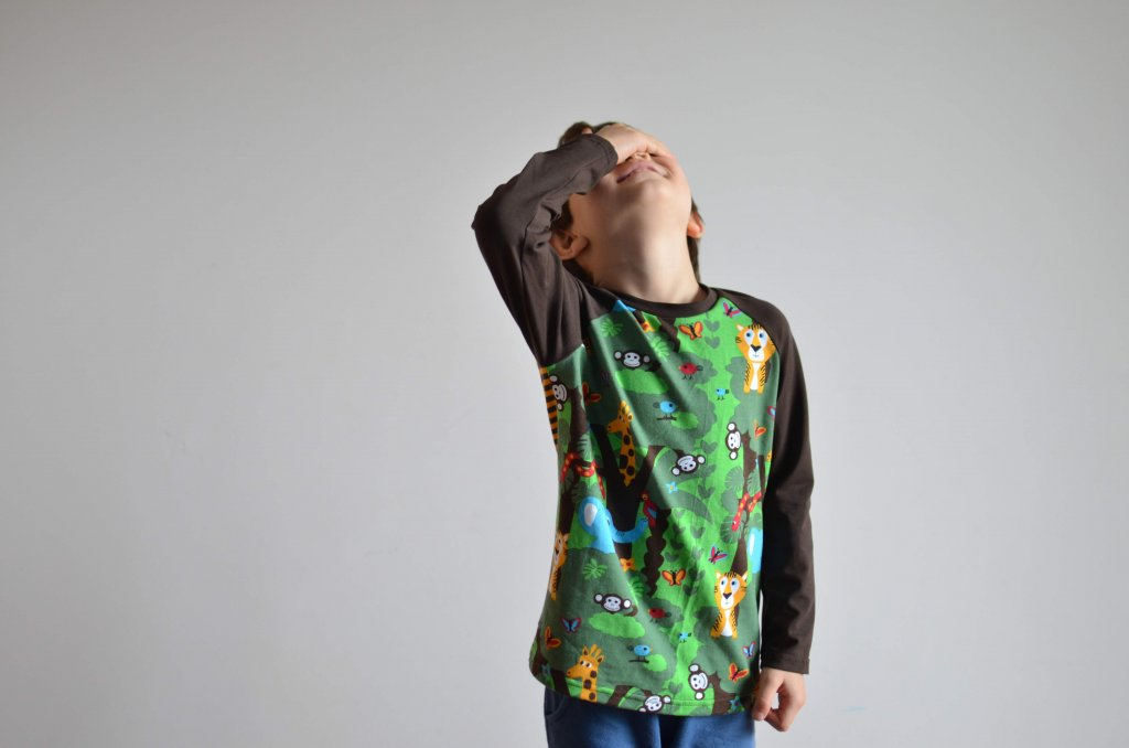 patrón camiseta manga raglán niños