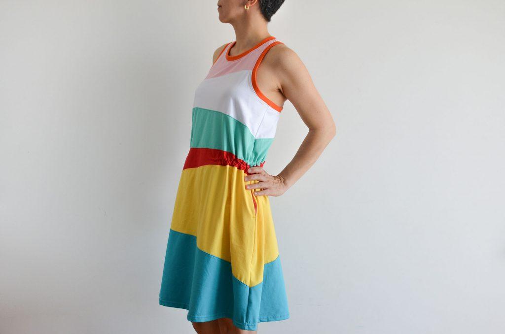 fruncido vestido