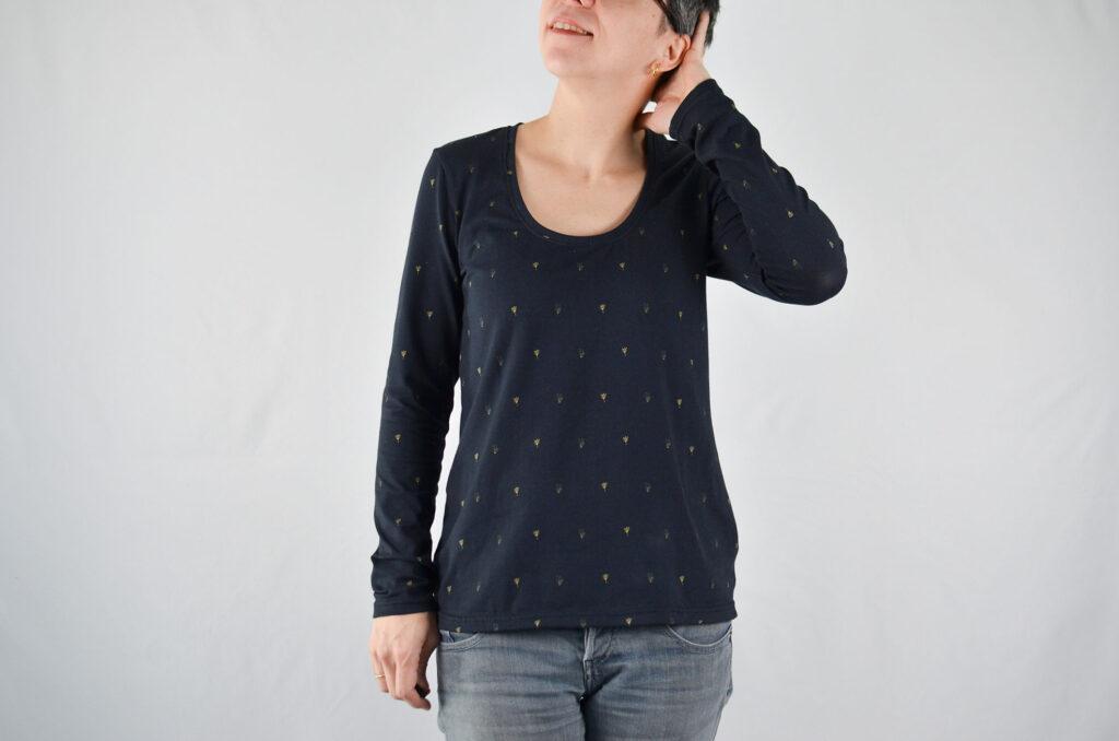 patrón camiseta aperta