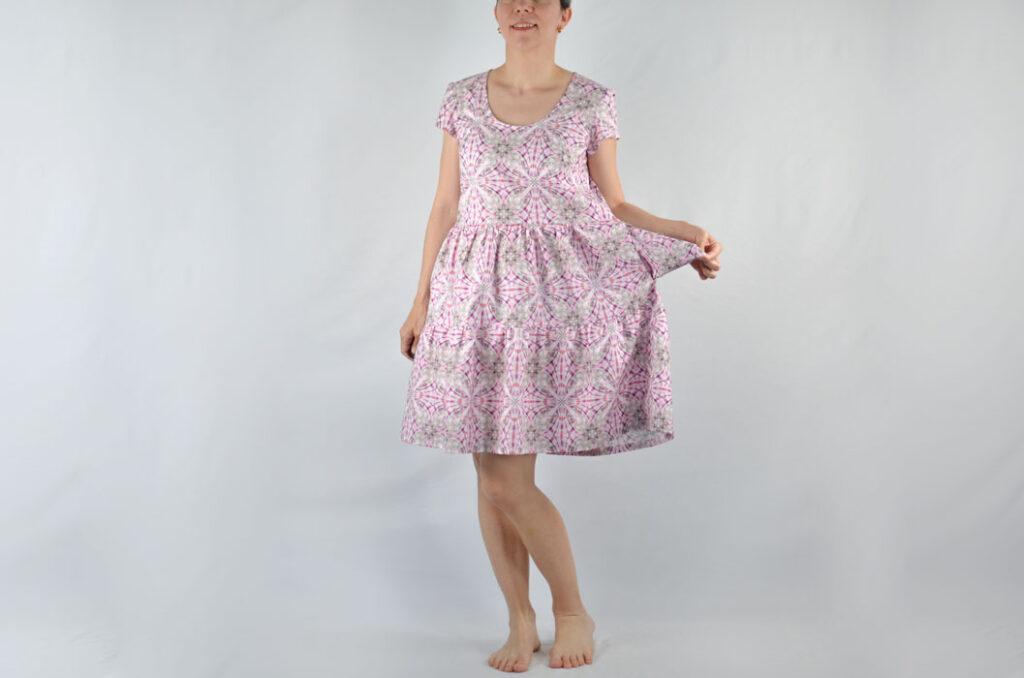 patrón blusa y vestido fruncido