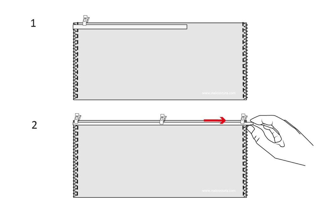 elástico transparente para fruncir